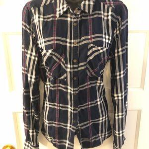 Maurice's XL Aztec Style Button Down Blouse Shirt